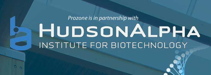 Hudson Alpha and Prozone ozone partnership graphic link