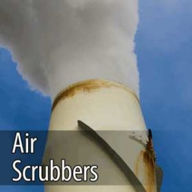 ozone for purification with air scrubbers