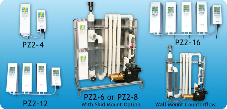 photos of the PZ2-4 thru PZ2-16 Ozone Generators