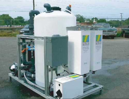 well water recycling and well water disinfection