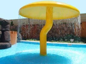 Mushroom shaped water feature