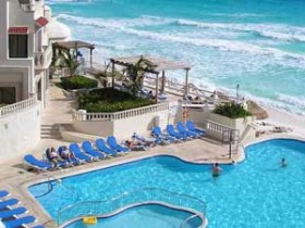 Resort Pool adjacent to beach photo