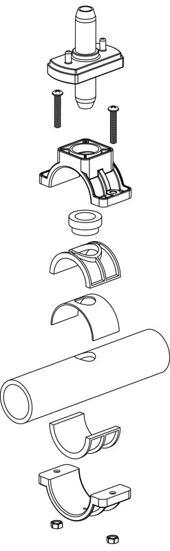 Saddle Clamp assembly Drawing