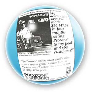 Howard's Pool Company Ad in a bubble